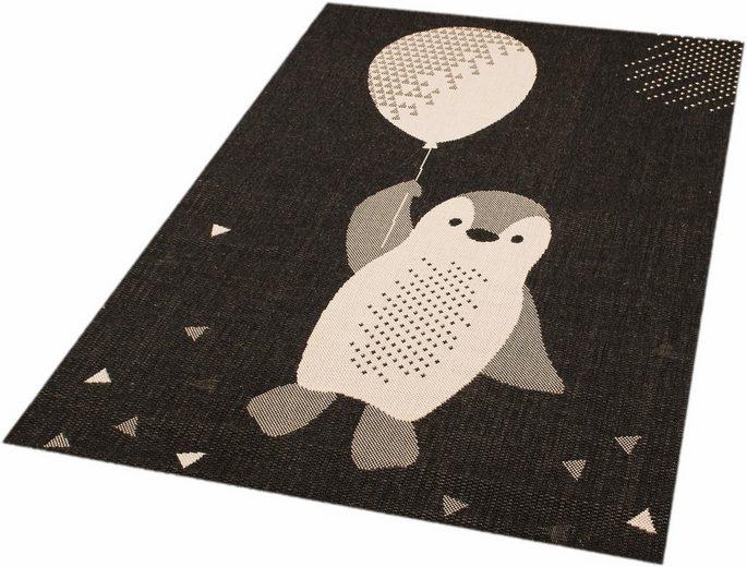 Kinderteppich »Pinguin Rico«, Zala Living, rechteckig, Höhe 4 mm