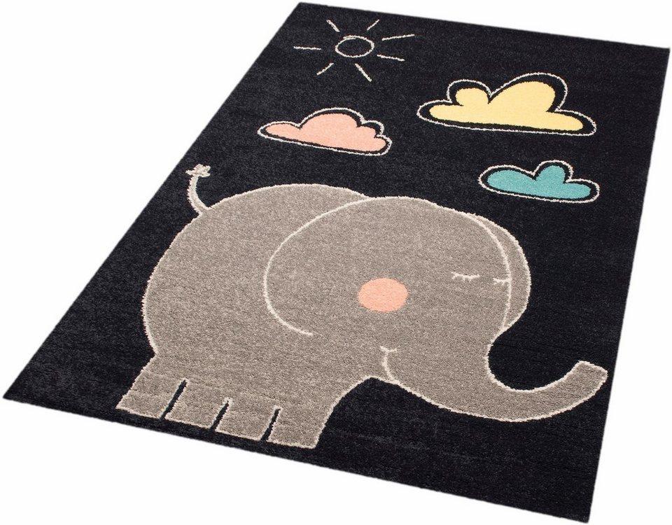 Kinderteppich dunkelblau  Kinderteppich »Elephant Jumbo«, Zala Living, rechteckig, Höhe 8 mm ...