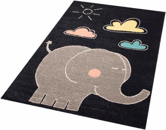 Kinderteppich »Elephant Jumbo«, Zala Living, rechteckig, Höhe 8 mm, Spielteppich, besonders weich durch Microfaser
