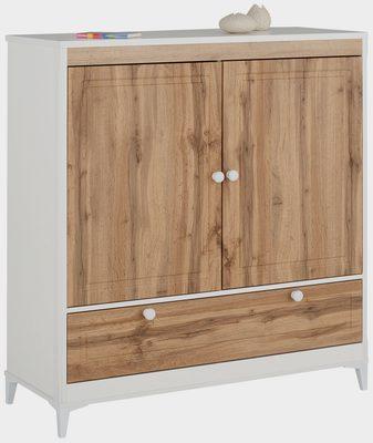 Wäscheschrank »Kjell« mit 2 Schubladen und 2 Türen, Breite 119 cm, Höhe 130 cm