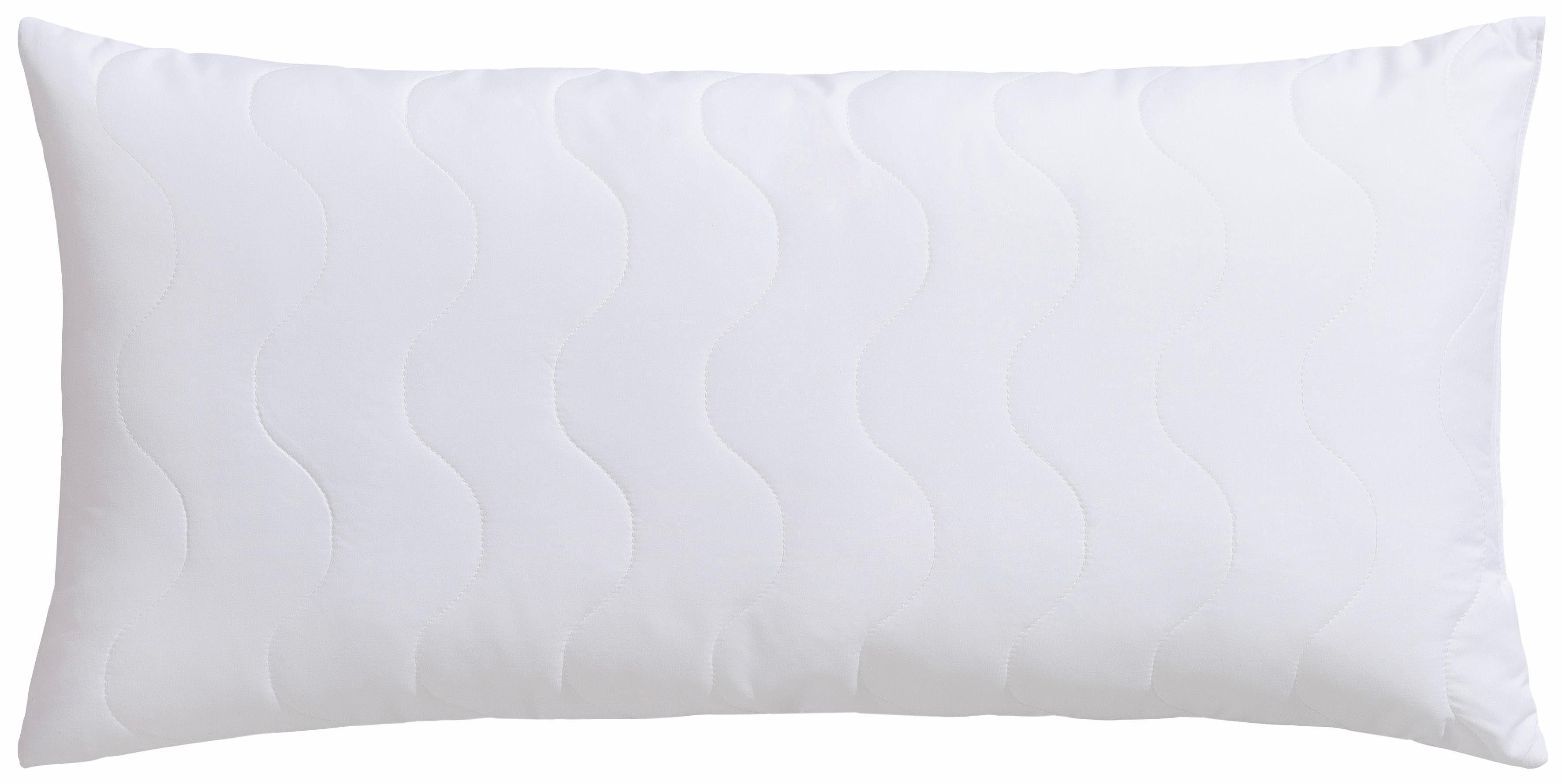 Microfaserkissen, »Hohenstein Kopfkissen Baumwollbezug«, Wendre, Füllung: 100 % Polyesterkugeln (antibakteriell), Bezug: Baumwollgewebe, (1-tlg)