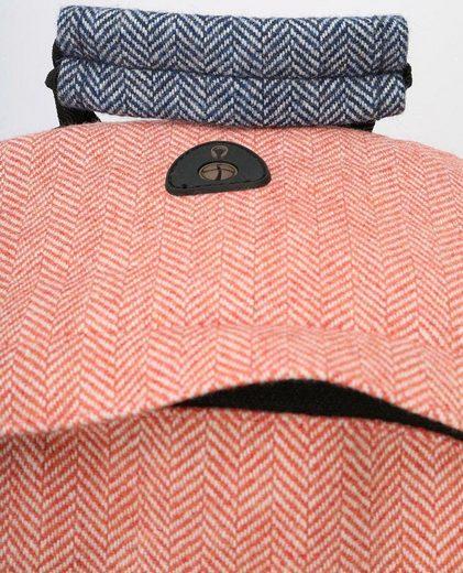 mi pac. Rucksack mit Laptopfach, Heavyweight Premium Herringbone Mix, terracotta/navy
