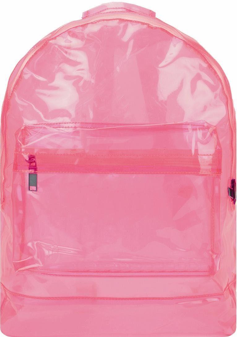 mi pac. Rucksack mit Laptopfach, »Transparent, pink«