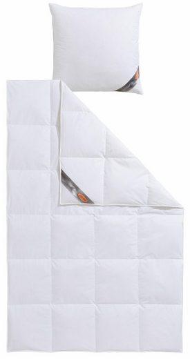 Kassettenbett + Kopfkissen, »QUEENS«, RIBECO, leicht, Material Füllung: Daunen, Federn