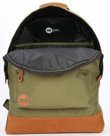 Pac Mi »classic Khaki« Rucksack Mit Laptopfach wx47xnvqF