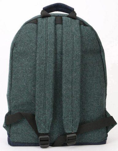 Laptopfach Mix Mi Pac Rucksack Herringbone Green navy« »heavyweight Mit Premium PtnfpWn4