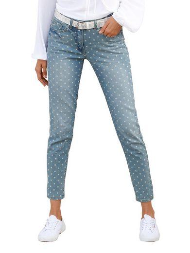 Amy Vermont Jeans mit Punktedruck