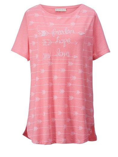 Janet und Joyce by Happy Size Shirt mit Pailletten
