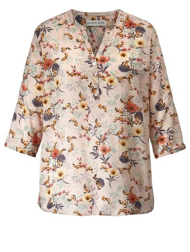 Janet und Joyce by Happy Size Bluse mit floralem Print