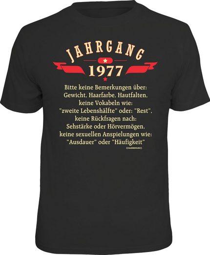 Rahmenlos T-Shirt »Jahrgang 1977«