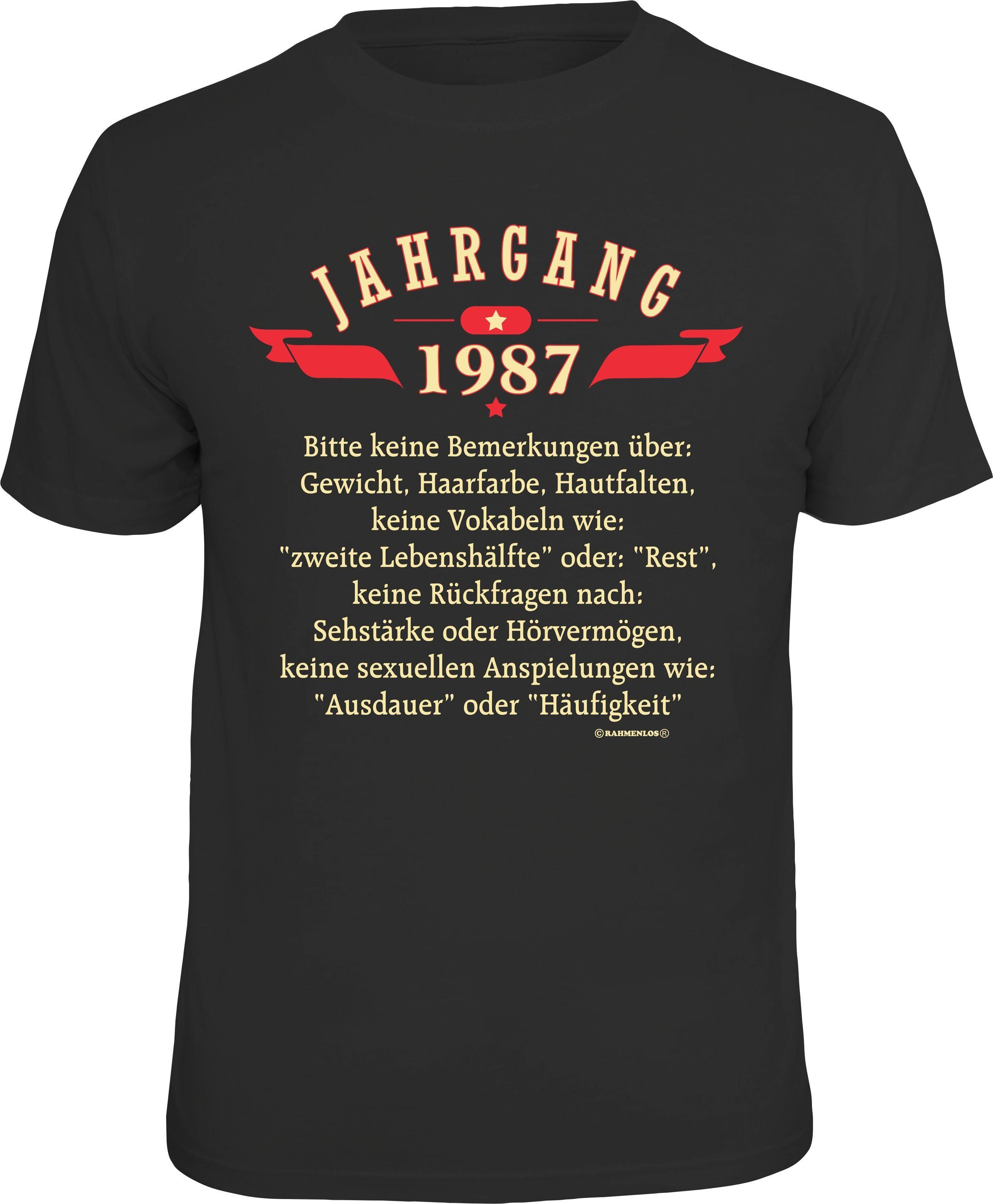 Rahmenlos T-Shirt »Jahrgang 1987«