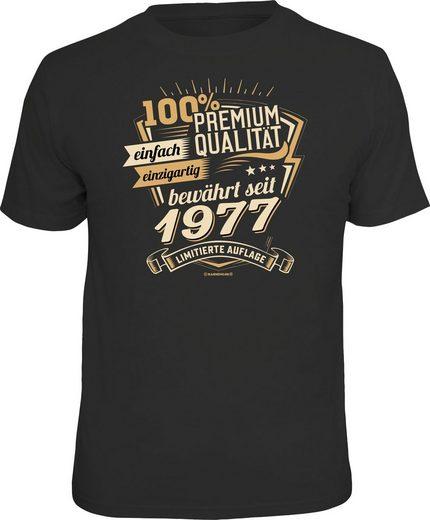 Rahmenlos T-Shirt mit Frontprint »Premium Qualität seit 1977«