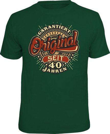 Rahmenlos T-Shirt »Garantiert original seit 40 Jahren«