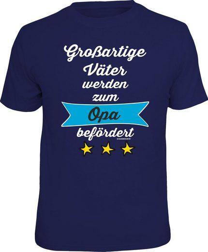 Rahmenlos T-Shirt »Großartige Väter werden zum Opa befördert«