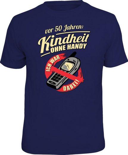 Rahmenlos T-Shirt »Kindheit ohne Handy vor 50 Jahren«