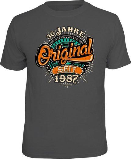 Rahmenlos T-Shirt mit Frontprint »Original 30 Jahre seit 1987«