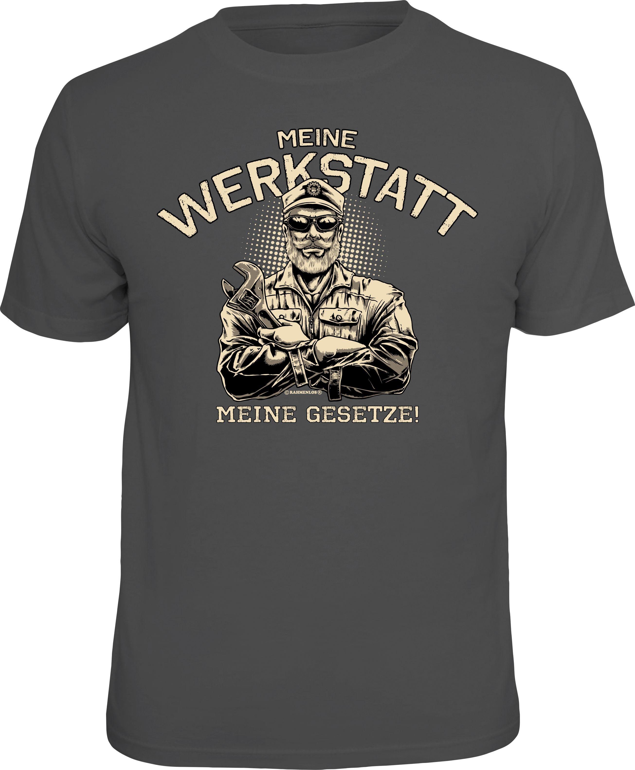 Rahmenlos T Shirt »Meine Werkstatt Meine Gesetze!«