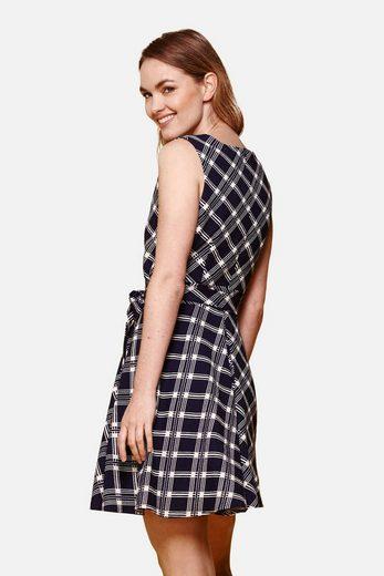 Yumi Wrap Dress Eve, With Diagonal Check Pattern