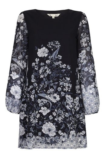 Yumi Sommerkleid Laila, mit Blumenbordüren