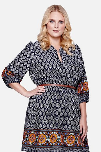 Yumi Curves Shirt Dress Connie, Tile-print And Belt