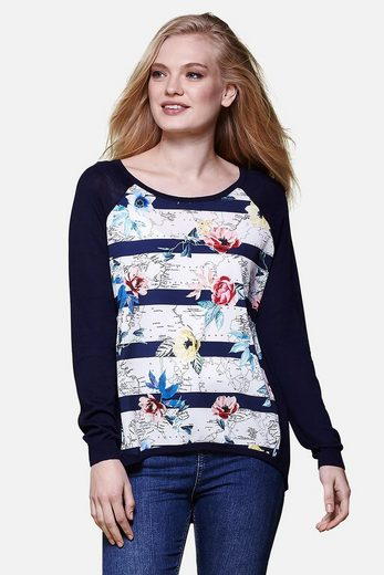 Yumi Crew-neck Sweater, Pullover Carmen Khadija, With Floral Pattern