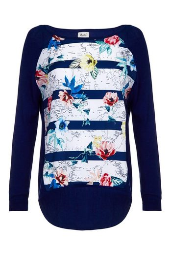 Yumi Crew-neck Sweater, Pullover Carmen Khadija, With Floral Pattern
