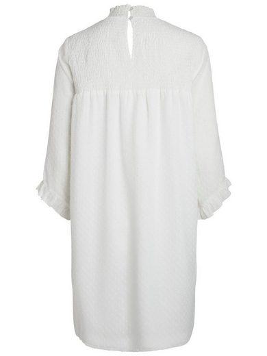 Pieces 3/4-ärmelige Mesh- Kleid