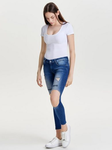 Only Dylan low pushup ankle Skinny Fit Jeans