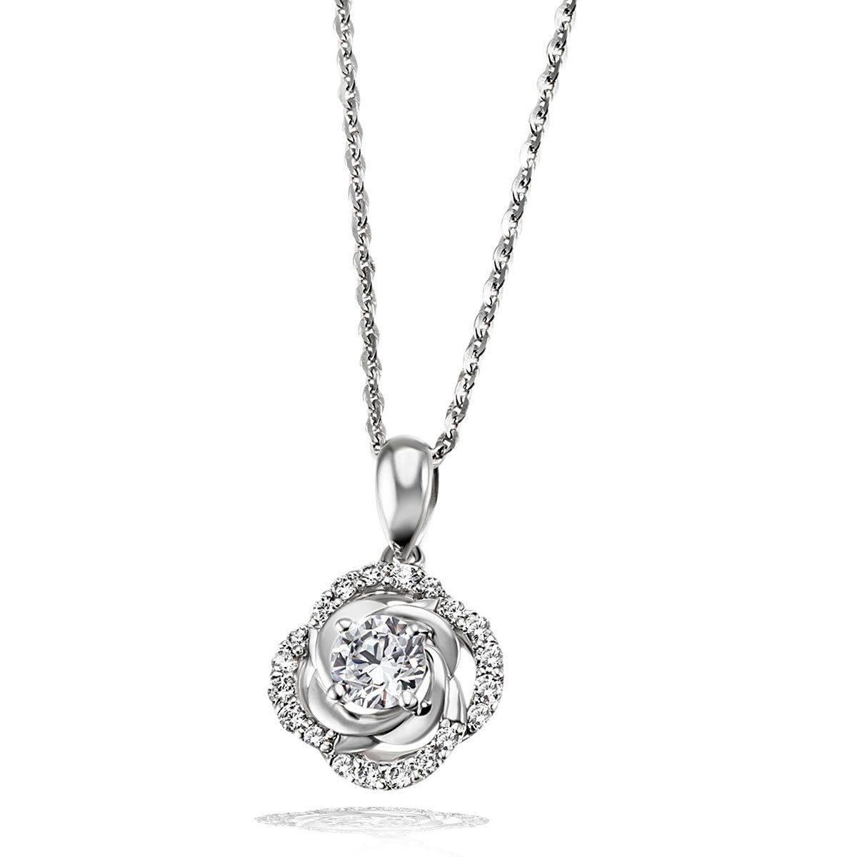 goldmaid Collier Rose 925/- Sterlingsilber 21 funkelnde Zirkonia