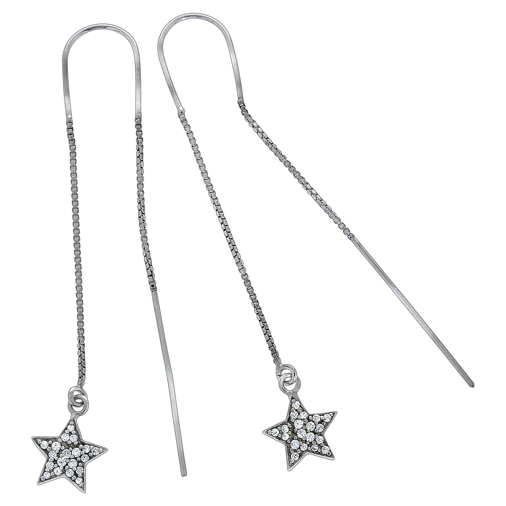 Vivance Durchzieh Ohrringe »925 Sterling Silber Sterne« online kaufen | OTTO