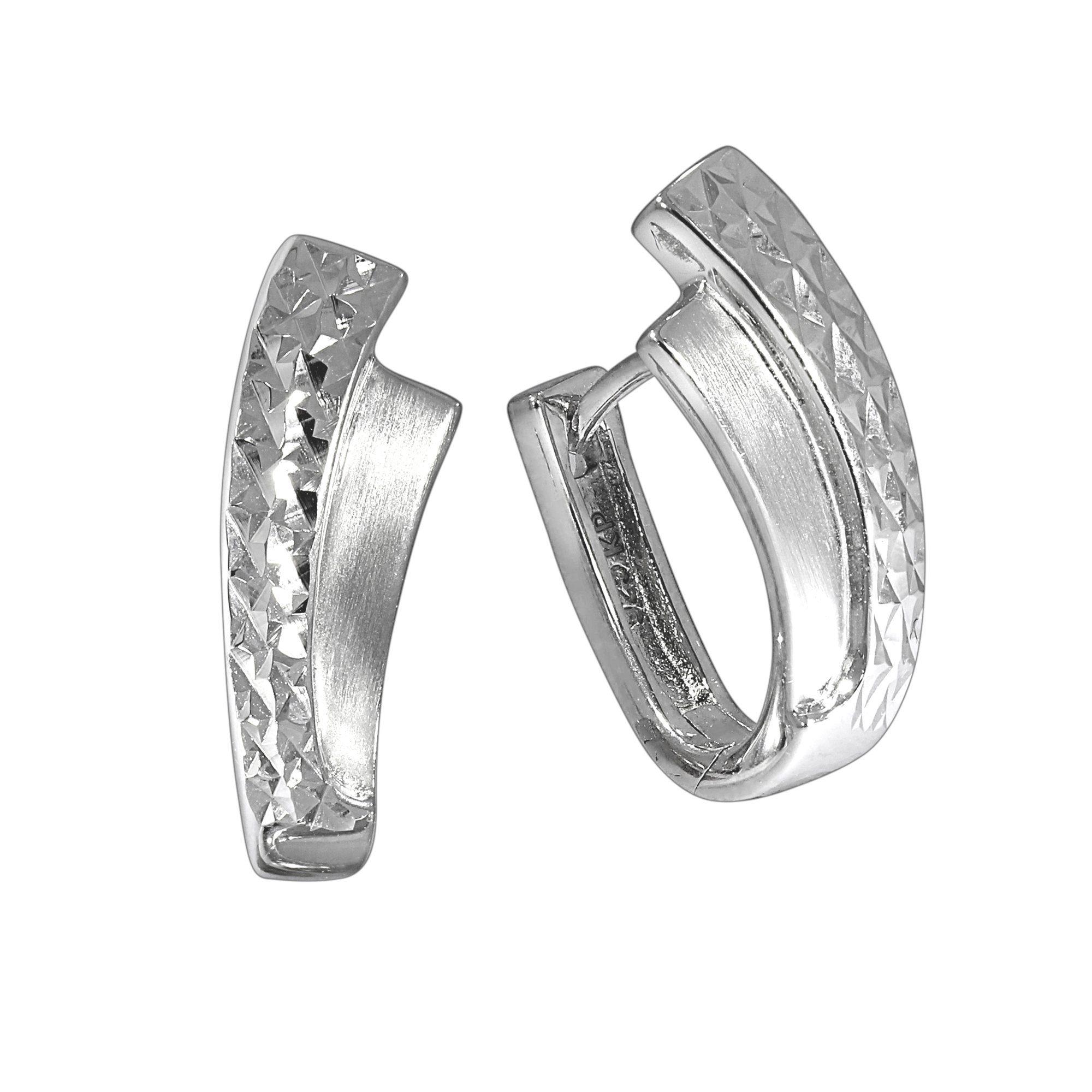 Firetti Klappcreolen »925/- Sterling Silber rhodiniert«