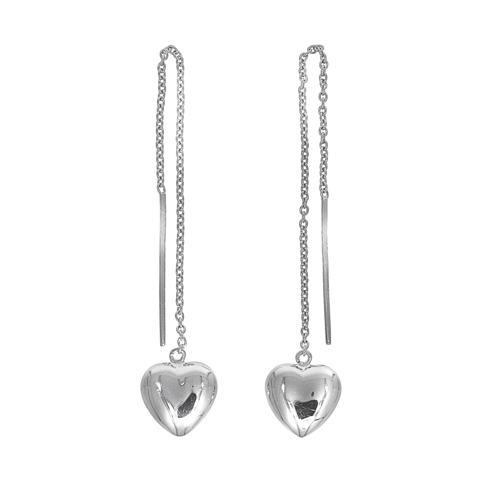 Firetti Durchziehohrringe »925/- Sterling Silber rhod. Herz«