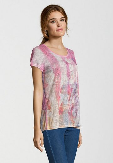 Frieda & Freddies T-Shirt MIT TROPICMUSTER, Leicht transparenter Oberstoff