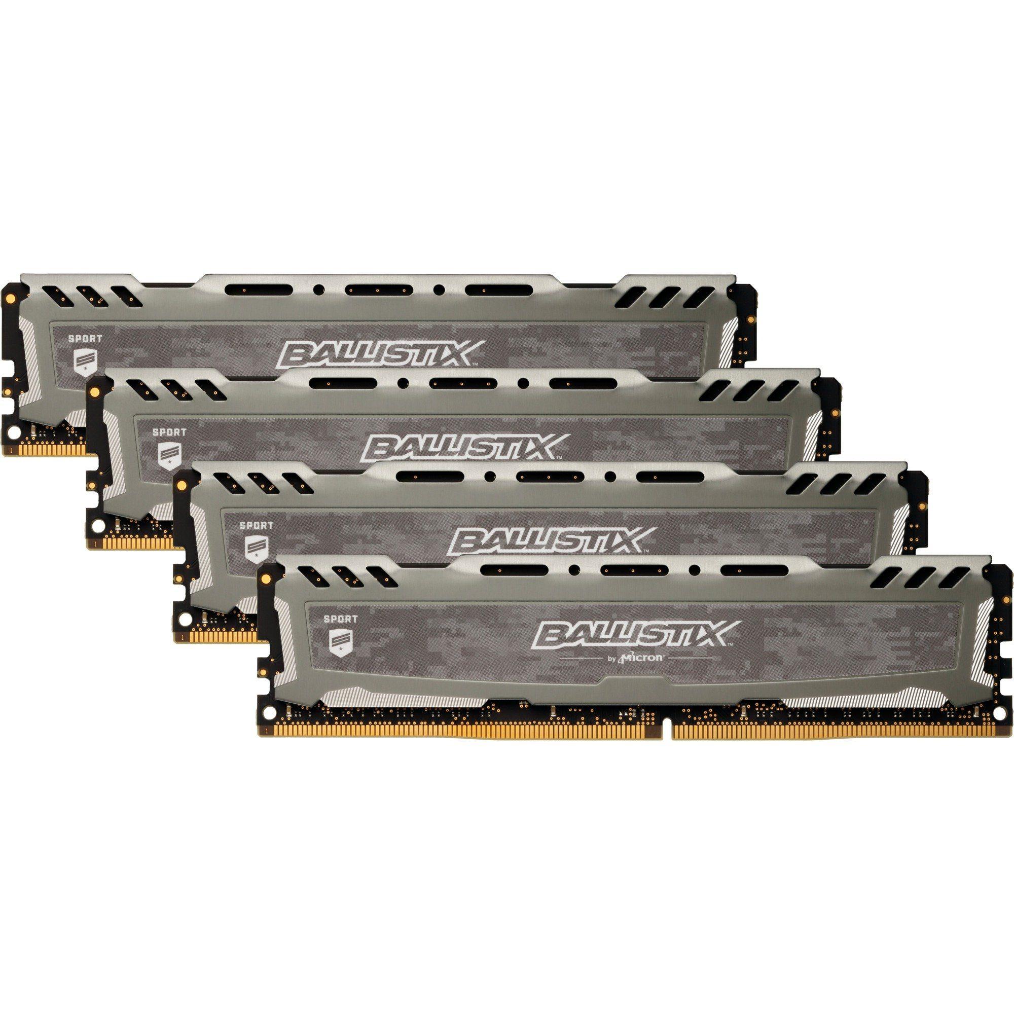 Crucial Arbeitsspeicher »DIMM 16GB DDR4-2400 Quad-Kit«