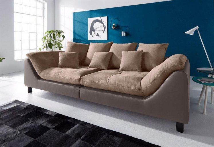 Bruno Banani Big-Sofa, inklusive Rückenkissen & Zierkissen