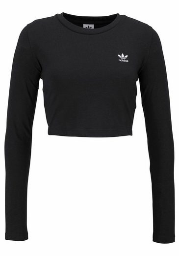 adidas Originals Langarmshirt STLYING COMPLIMENTS T-SHIRT CROPPED, Kurz geschnitten