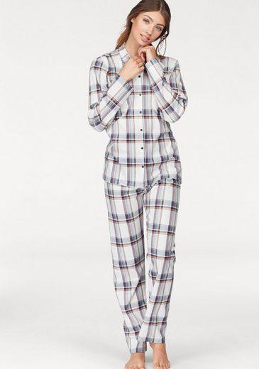CALIDA Pyjama in klassischer Form