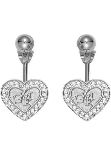 GMK Collection Paar Ohrstecker »Ear Jackets, Herz, 87132846«, mit abnehmbaren Einhängern und Zirkonia (synth)