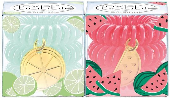 invisibobble Spiral-Haargummi »Original Tutti Frutti Collection«, 2-tlg., What A Melon & Lime Time