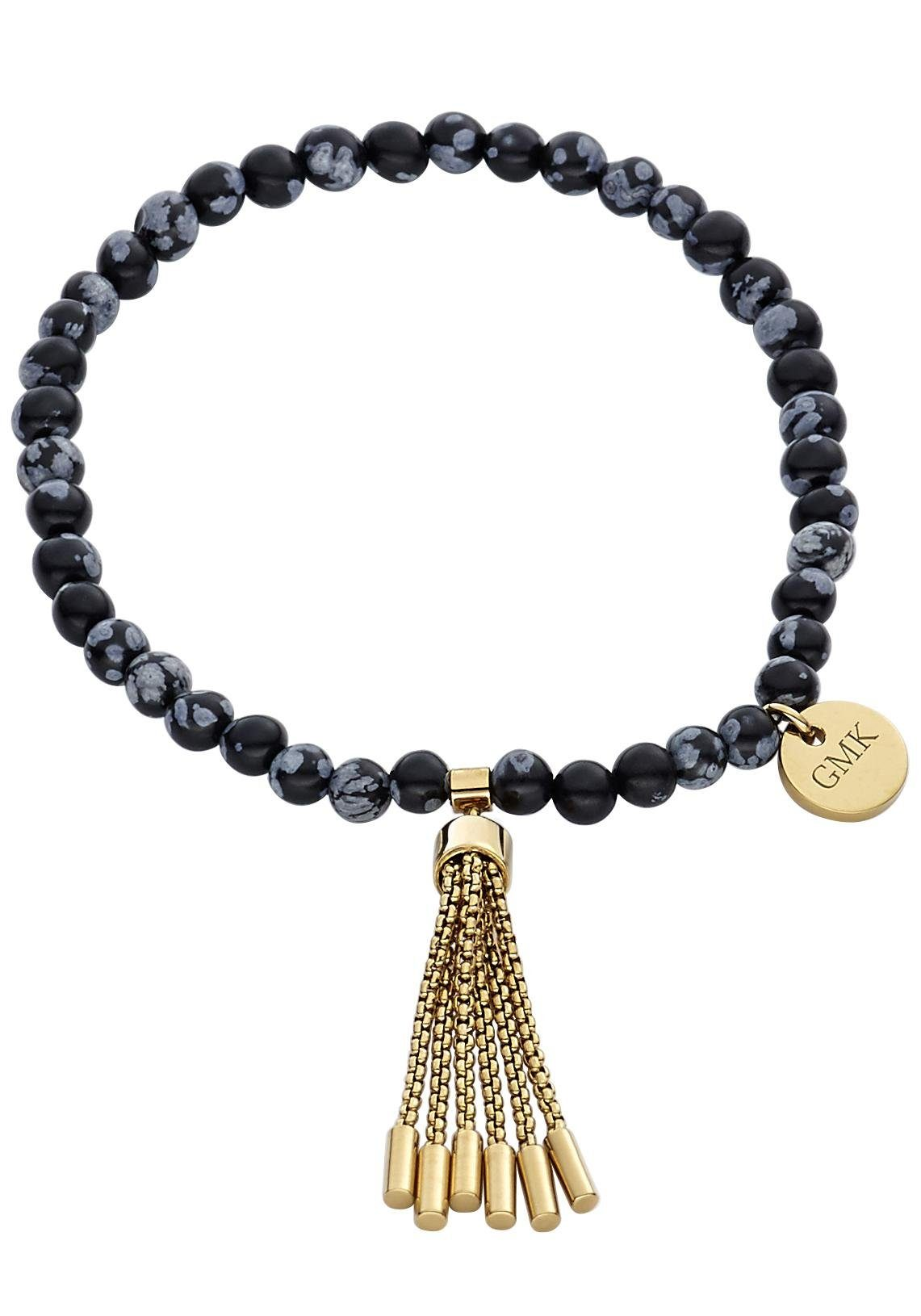 GMK Collection Armband »87133931« mit Schneeflocken-Obsidian