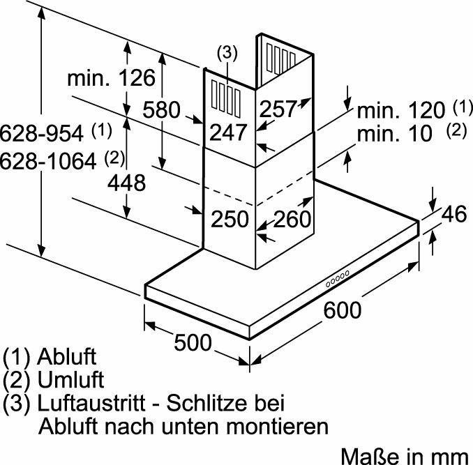 NEFF Wandhaube DMH7652N / D76MH52N1