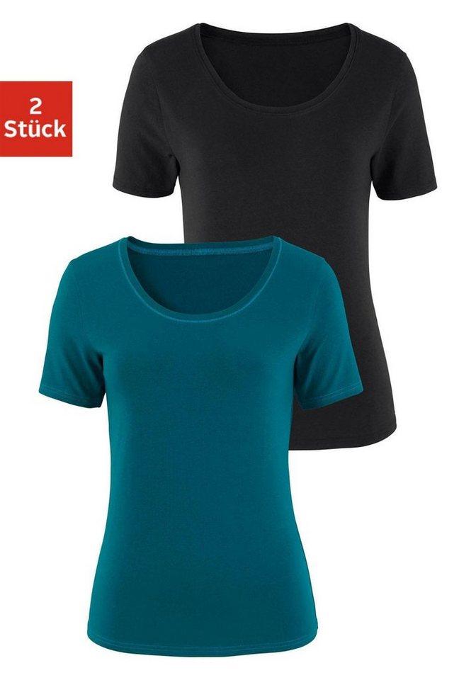 Vivance T-Shirts (2 Stück) aus Baumwoll-Stretch   OTTO 0f832d136e