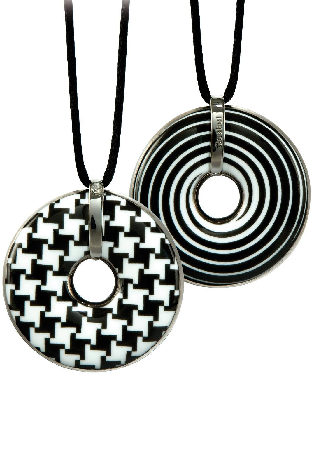 Goebel Kette mit Anhänger »Hahnentritt/Spirale, 66999161« mit Swarovski® Kristall