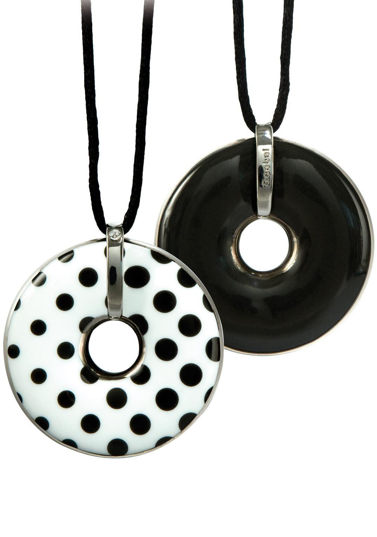 Goebel Kette mit Anhänger »Punkte/Schwarz, 66999151«, mit Swarovski® Kristall