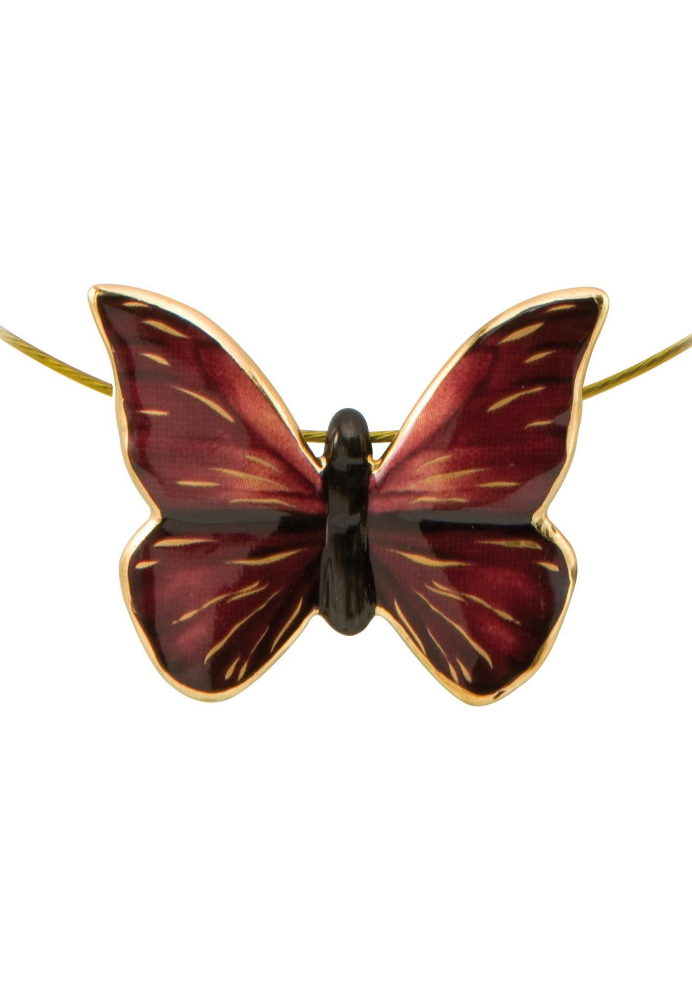 Goebel Kette mit Anhänger »Butterfly Red, Schmetterling, 26150461«, mit Swarovski® Kristall