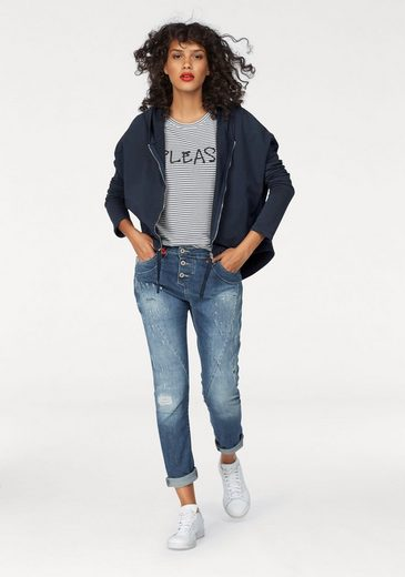 Please Jeans T-Shirt, mit Logo-Print