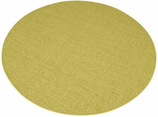 Sisalteppich »Trumpf«, Living Line, rund, Höhe 6 mm, Obermaterial: 100% Sisal, Wohnzimmer