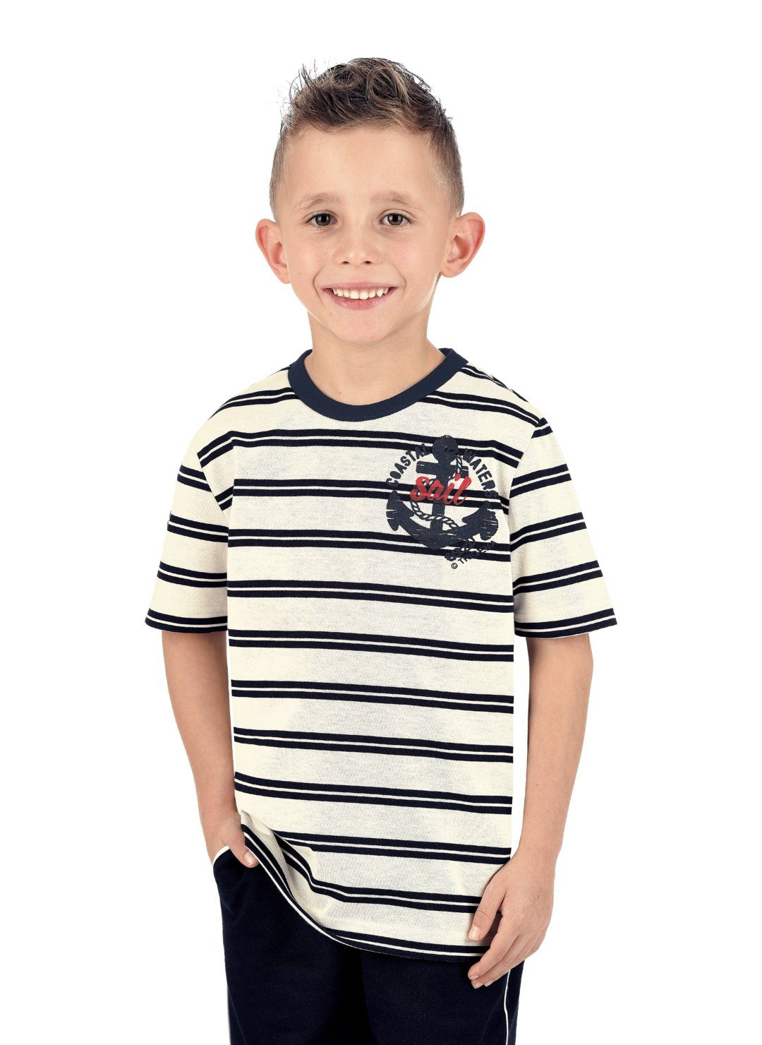 TRIGEMA Ringel-T-Shirt DELUXE Baumwolle