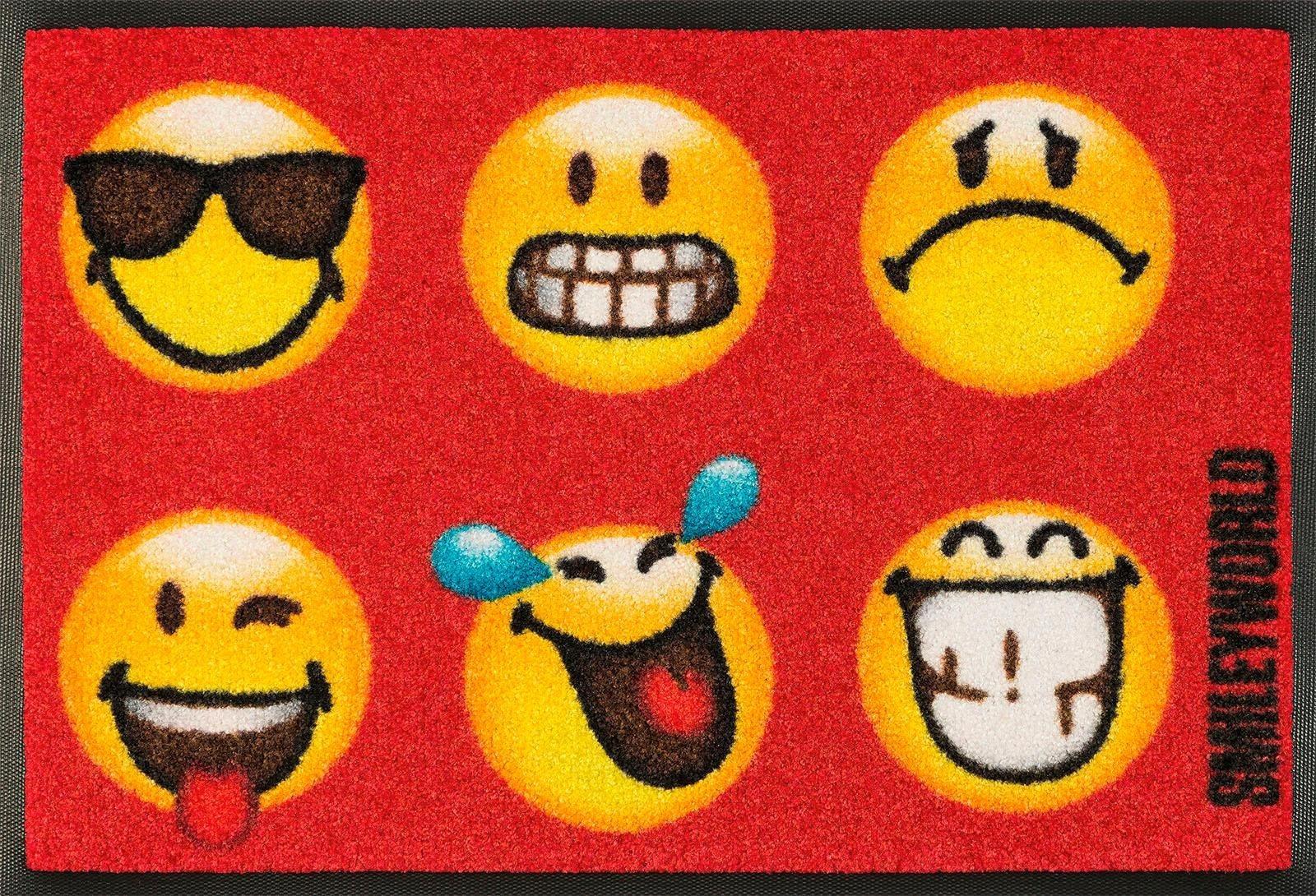 Fußmatte »Smiley Faces«, wash+dry by Kleen-Tex, rechteckig, Höhe 7 mm | Heimtextilien > Fussmatten | wash+dry by Kleen-Tex