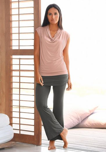 Lascana Yoga & Relax Top With Waterfall Cutout